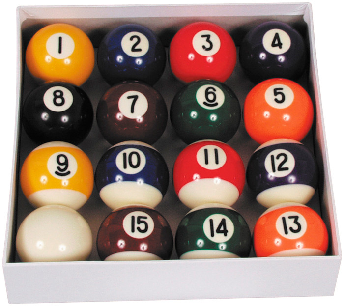Pool ballen set Polyester 57.2mm Economy
